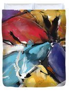 Eagle And Doves Abstract 1510 Duvet Cover