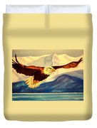 Eagle And Mountains Duvet Cover