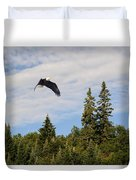 Eagle At Scott Brook Duvet Cover