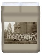 Eagle Band's Drum Corps. Native Sons Of The Golden West  Circa 1908 Duvet Cover