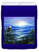 Eagle Blue Ridge Mountain Sunrise Duvet Cover
