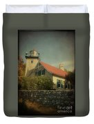 Eagle Bluff Lighthouse Duvet Cover