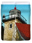 Eagle Bluff Lighthouse Re-imagined Duvet Cover