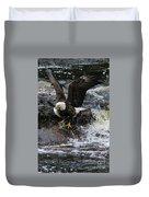 Eagle Catches Fish Duvet Cover