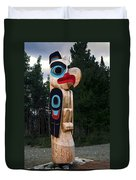 Eagle Clan Totem Pole Duvet Cover