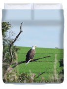 Bald Eagle Overlook Duvet Cover