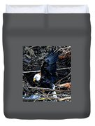 Eagle Getting Ready To Feed Duvet Cover