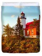 Eagle Harbor Lighthouse, Michigan Duvet Cover