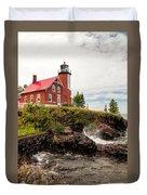 Eagle Harbor Lighthouse Duvet Cover