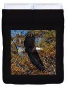 Eagle In Fall Duvet Cover
