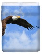 Eagle In The Clouds Duvet Cover