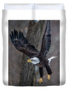 Eagle In The Forest Duvet Cover