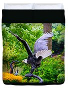 Eagle In The Garden Duvet Cover