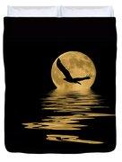Eagle In The Moonlight Duvet Cover