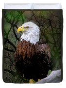 Eagle In The Night Duvet Cover