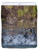 Eagle Induced Chaos Duvet Cover