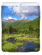 Eagle River- Alaska Duvet Cover