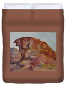 Eagle Rock In Valley Of Fire Duvet Cover