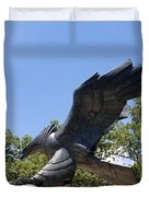 Eagle Statue  Duvet Cover