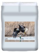 Eagle With Lunch Duvet Cover