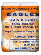 Eagles Tampa Stadium 1975 Duvet Cover
