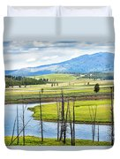 Eagles View, Hayden Valley, Yellowstone Duvet Cover