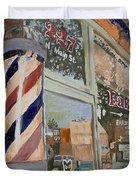 Eaker's Barbershop Duvet Cover