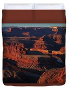 Early Morning Light Hits Dead Horse Point State Park Duvet Cover