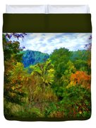Early Autumn Along The Rogue River In Oregon Duvet Cover
