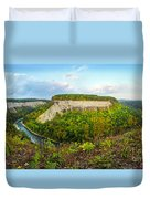 Early Autumn At Genesee River Canyon New York Duvet Cover