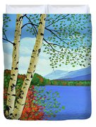 Early Autumn Birches Duvet Cover