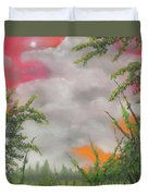 Early Autumn Moon Duvet Cover