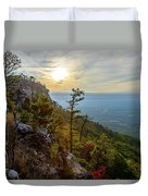 Early Autumn On Pilot Mountain Duvet Cover