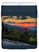 Blue Ridge Parkway Sunrise - Beacon Heights - North Carolina Duvet Cover