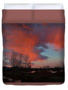 Early Dawn In The Wetlands Duvet Cover