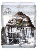 Early December Snowfall Morning Duvet Cover