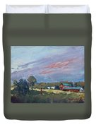 Early Evening At Phil's Farm Duvet Cover