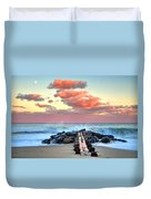 Early Evening At The Beach Duvet Cover