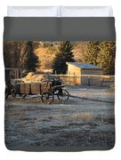 Early Farm Wagon Duvet Cover