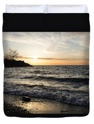 Early Lakeside - Waves Sand And Sunshine Duvet Cover