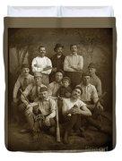 Early Monterey Baseball Team Circa 1895 Duvet Cover