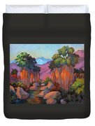 Early Morning At Indian Canyon Duvet Cover