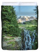 Early Morning At Myrtle Falls Duvet Cover