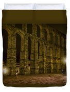 Early Morning At The Aqueduct Of Segovia Duvet Cover