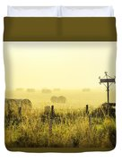 Early Morning At The Farm Duvet Cover