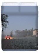 Early Morning Car Lights Duvet Cover