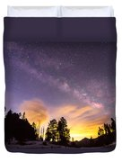 Early Morning Colorful Colorado Milky Way View Duvet Cover