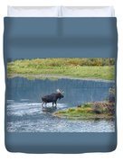 Early Morning Crossing In Grand Teton Duvet Cover