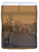 Early Morning Driveway Duvet Cover