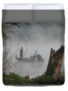 Early Morning Fishing Duvet Cover